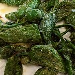 Fried green padron peppers
