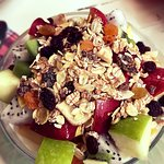 Coffee, fruit, and juices are unbeatable!  Breakfast food otherwise is good. The atmosphere and