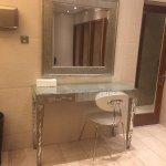 Hotel main lobby and women's bathroom