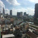 Great views from rooftop bar, nice food, nice beer