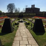 Gardens at Hampton Court Palace on a fabulous day in April 2017