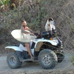 This is Javier (owner) with his ATV, dog and surfboard - Thanks Javier!!