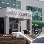 the entrance to the Golf Center