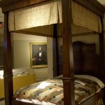 Four-poster bed at the Visitor Center