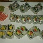 Sushis : salmon cream cheese avocado - shrimp asparagus cream cheese - Mango avocado - avocado c
