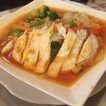 Beef teriyaki and spicy ramen
