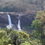 Athirapally waterfalls from a distance