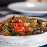Grilled vegetable's salad