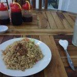 nasi goreng (20,000 Rp) and fresh lime juice (7,000 Rp)