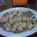 The signature tofu dish - with minced shrimp and mushrooms