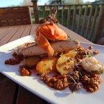 Pan Fried Scottish Salmon Fillet & King Prawns (Gluten Free)