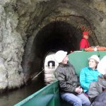 Entering part of the Dudley Canal tunnel ...