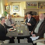 Dr. Paul Rübig MEP and wife Maria entertained by Lancaster Languages.