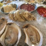Oyster and clams on the half shell at Amen Street