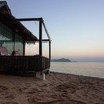 beach villa early morning