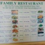 prices on the menu