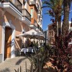 Vue de terrasse sur la Plaça d'Espanya