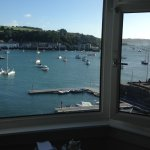 Bay window room view at The Greenbank Hotel in Falmouth