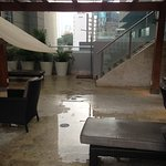 Plaza near pool (rainy day!)