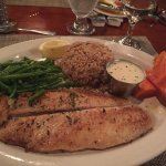 Grilled Grouper with rice, carrots and green beans