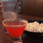 Strawberry rhubarb beverage...$8 American.