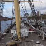 Photo of deck of Glenlee Tall Ship