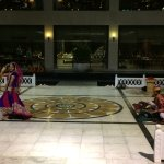 Dance in central courtyard of the hotel