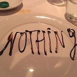 Our 'nothing' plate courtesy of our lovely waiter, Vassili.