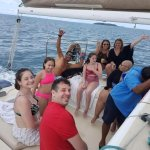 Our family having a great time on the Catamaran!