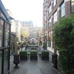 Inner courtyard of hotel