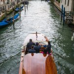 A water taxi in Venice