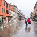 Walking in the rain in Venice