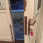 LaCasita, old style door