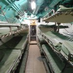Crew sleeping area in the sub