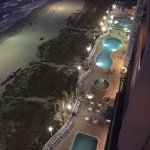 View of pools and grounds at night