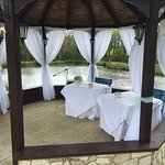 Our Gazebo makes the perfect place for your wedding vows!!