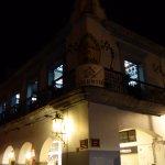 Looking back at La Casa de la Abuela from the square