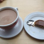delicious hot cocoa & salted caramel tart (it was so good, I repeated it again the next day)