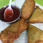 You have to try the. Samosas, chicken breyani, koeksisters. Delicious. We'll be back.