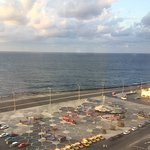 Taken from the 10th floor looking at one of the plaza's popular for wifi and the Malecon