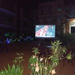 Watching IPL in bigg screen
