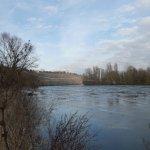 Eis auf dem Neckar beim Max-Eyth-See