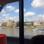 Excellent views from the booth overlooking The Thames River
