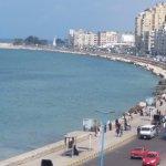 The Corniche in Alexandria, Egypt