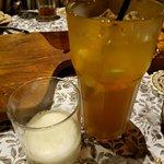 Iced Lemon Tea with Ice Cream?