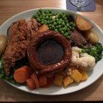Mixed meat roast dinner