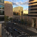 Looking to the south at downtown San Jose. Fairmont Hotel is in the distance to the right.