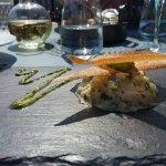 mon carpaccio de poisson cru citron vert ( entrée)
