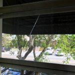 cracked window in my room....