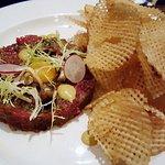 Tableau Restaurant - Steak tartare with quail egg, pomme gaufrette